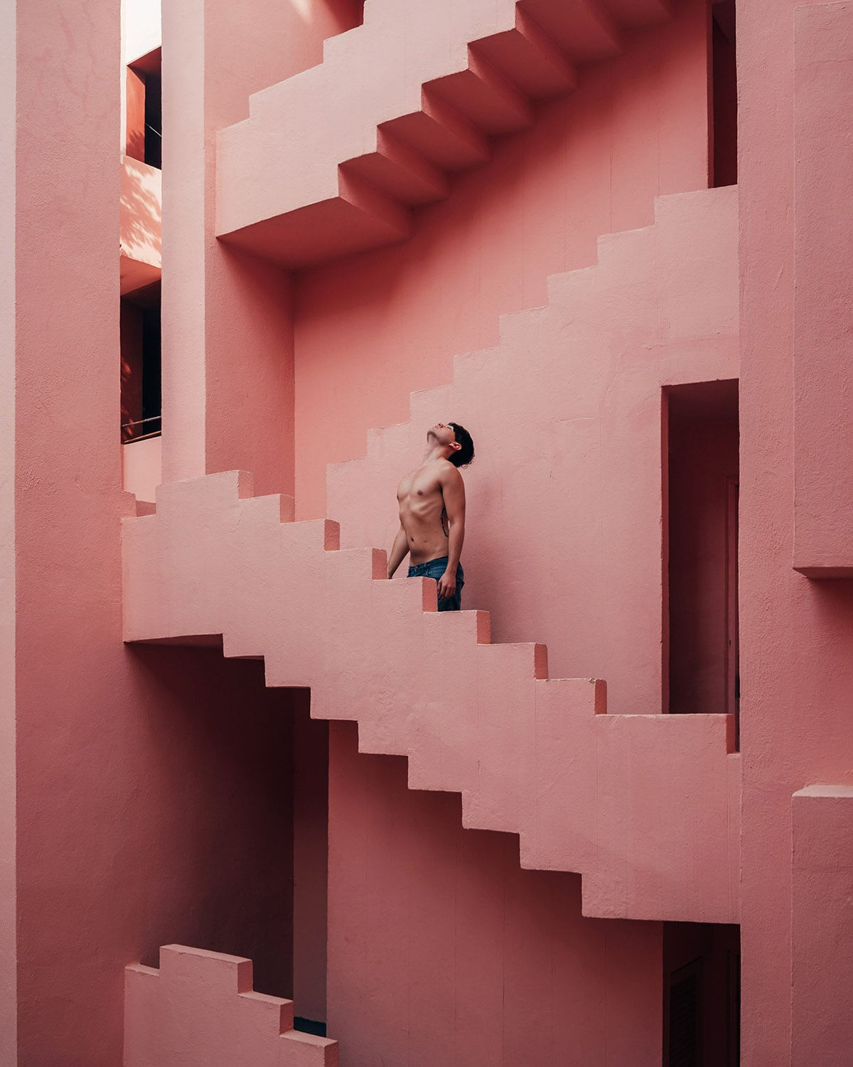 Conceptual portrait and architectural photography shot by London editorial fashion photographer Ira Giorgetti