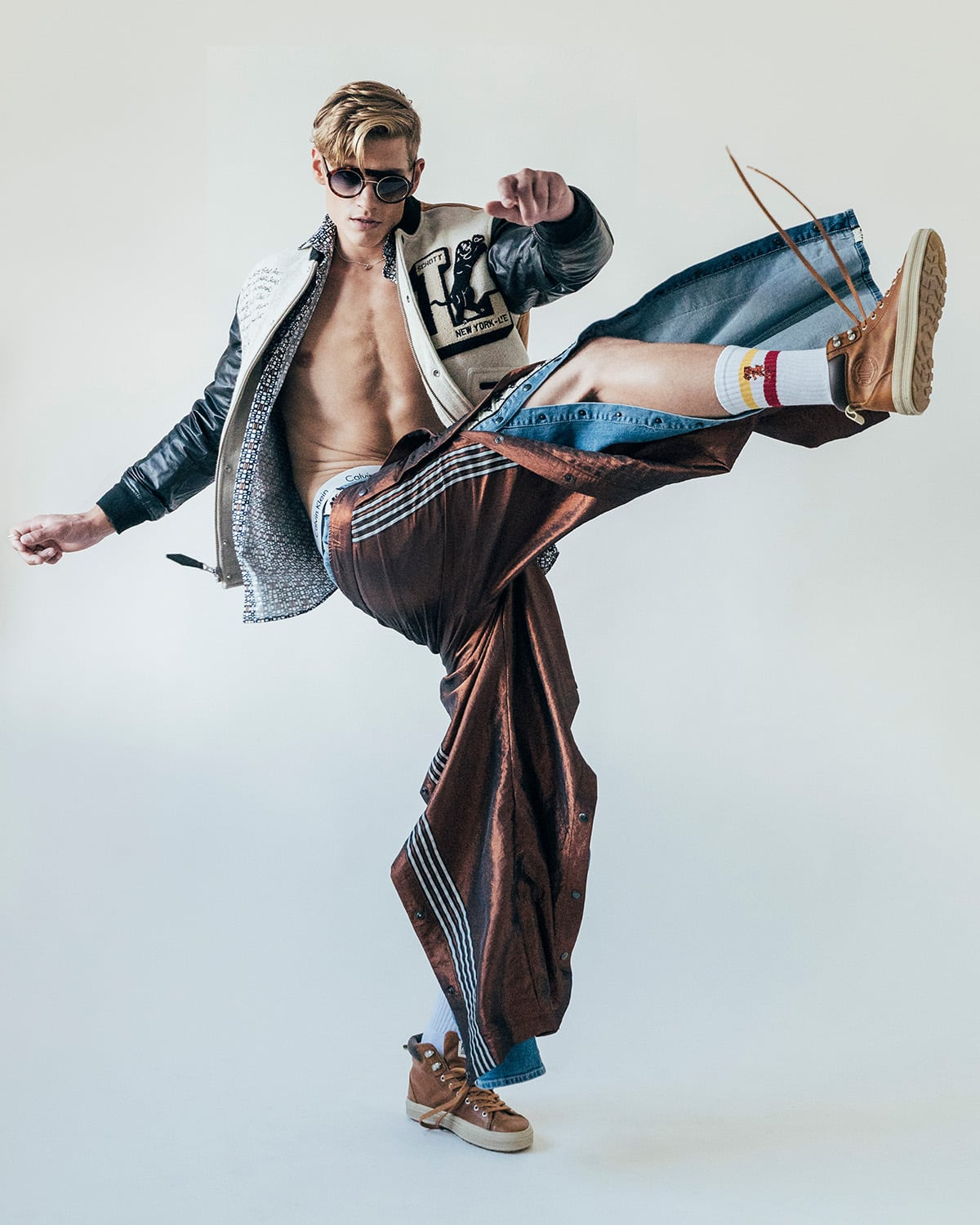 Energetic and striking menswear fashion photography by London fashion photographer Ira Giorgetti