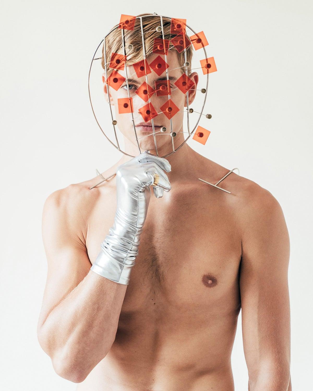 Conceptual menswear fashion photography shot by London editorial fashion photographer Ira Giorgetti
